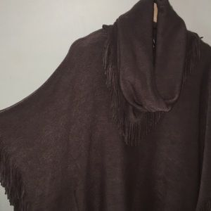 Sweaters - Super soft poncho with detachable scarf!